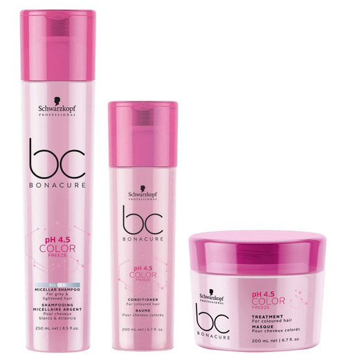 Schwarzkopf BC Bonacure Color Freeze Silver Shampoo, Conditioner & Treatment