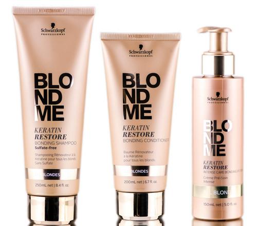 Keratin Restore All Blondes Bonding Shampoo, Conditioner & Bonding Potion