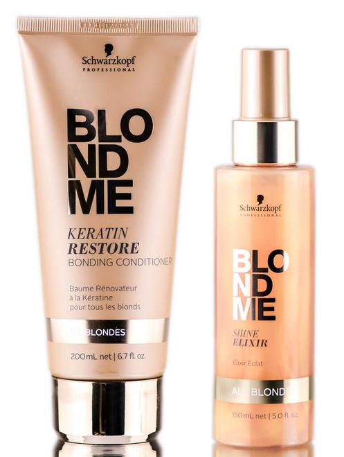 Schwarzkopf BlondMe Keratin Restore Bonding Conditioner & Shine Elixir
