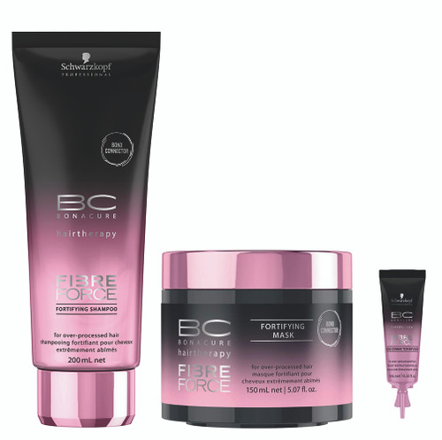 Schwarzkopf BC Bonacure Fibre Force Fortifying Shampoo, Mask & Bond Connector Infusion