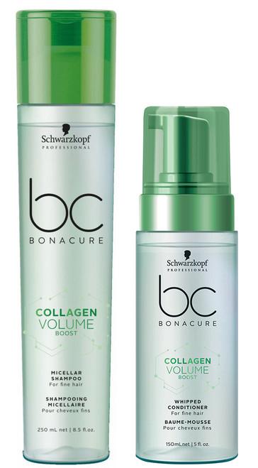 Schwarzkopf BC Collagen Vol Boost Micellar Shampoo & Whipped Conditioner