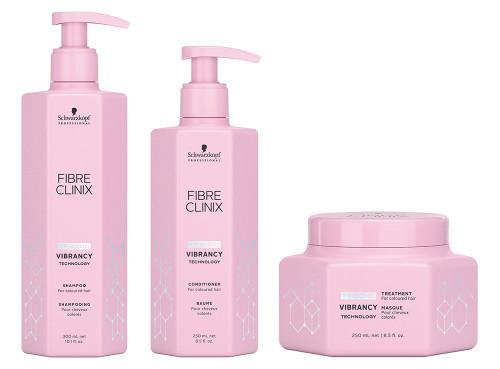 Schwarzkopf Fibre Clinix Vibrancy Shampoo, Conditioner & Treatment