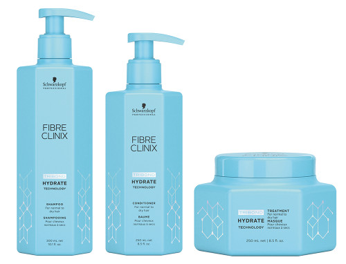 Schwarzkopf Fibre Clinix Hydrate Shampoo, Conditioner & Treatment