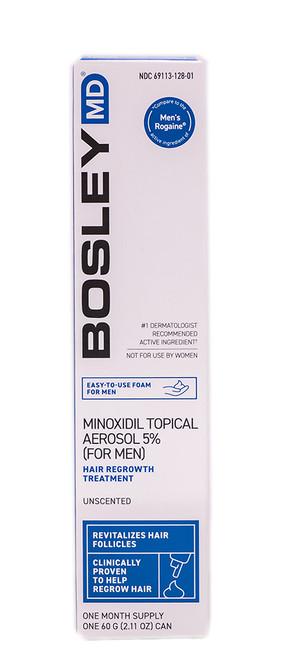 Bosley MD Men's Minoxidil 5% Rogaine Hair Regrowth Treatment