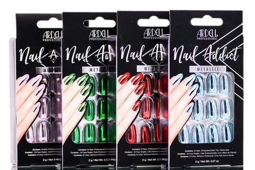 Ardell Nail Addict Metallic Artificial Nail Set
