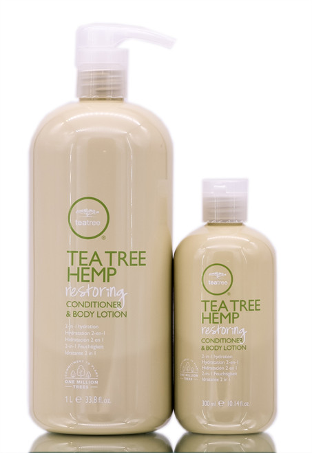 Paul Mitchell Tea Tree Hemp Restoring Conditioner & Body Lotion