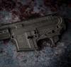"""B.Kings Firearms In Silver Damascus 15"""" MLOK Rail"""