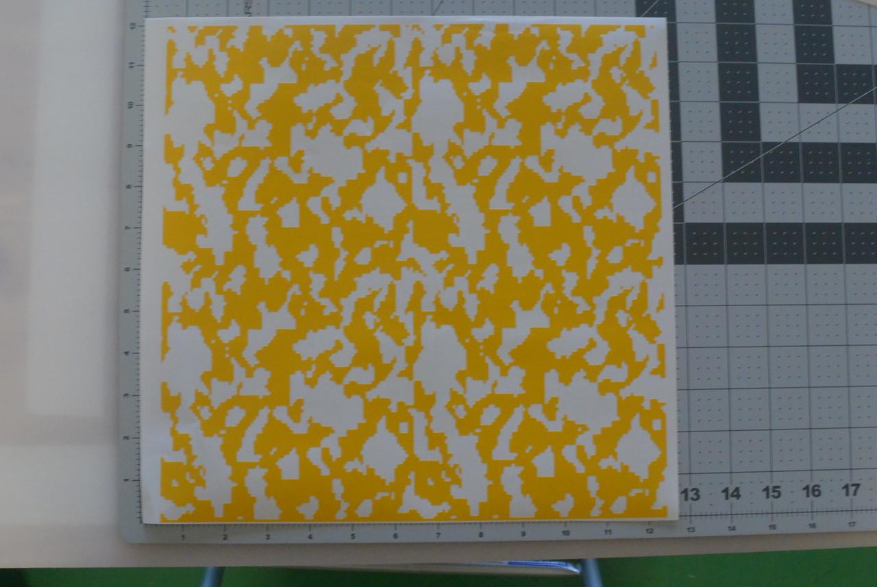 Avery Dennison 100-235-S High Bake Yellow Paint Mask Stencil Vinyl 24x12