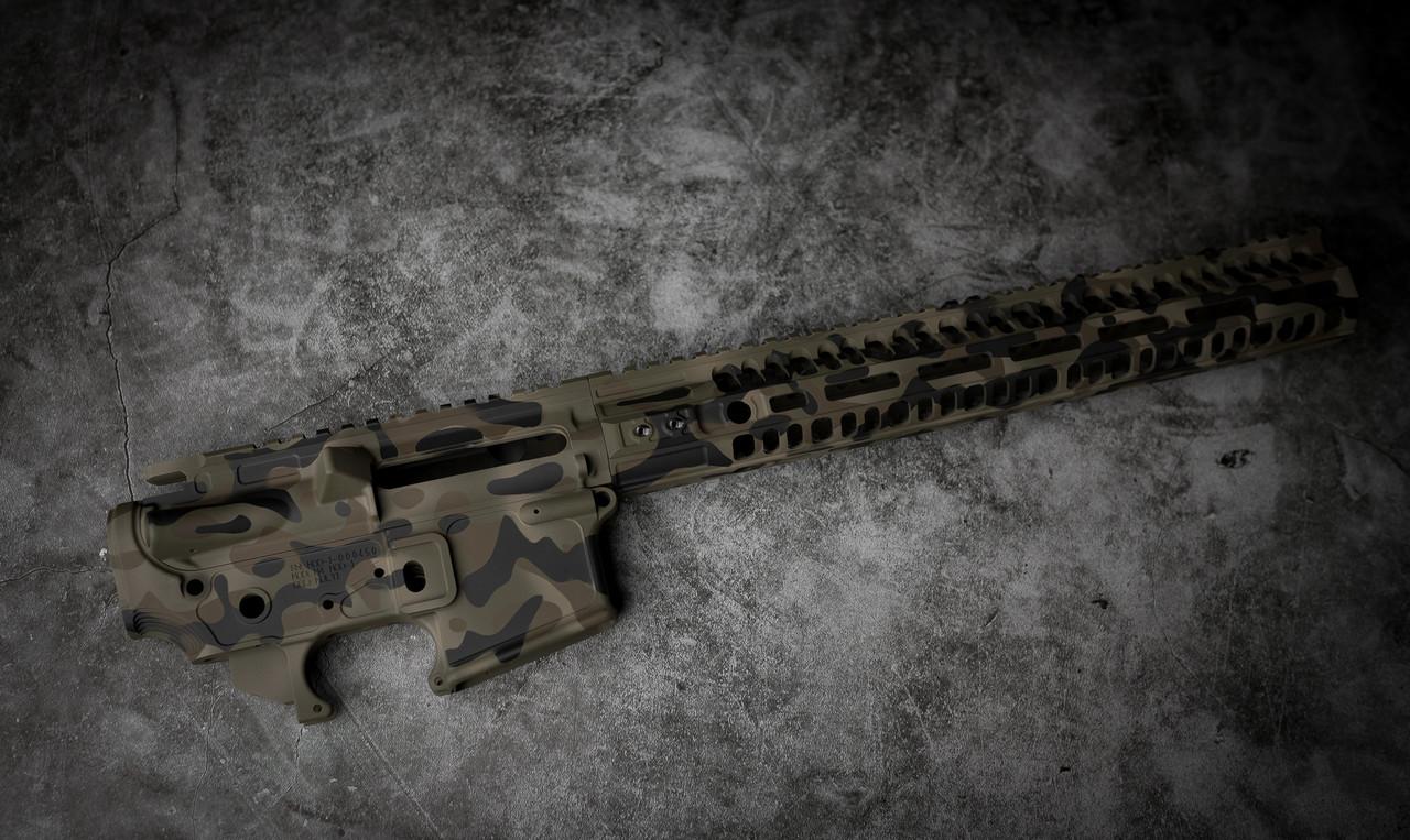 """B.Kings Firearms In MC Woodland 15"""" MLOK Rail"""