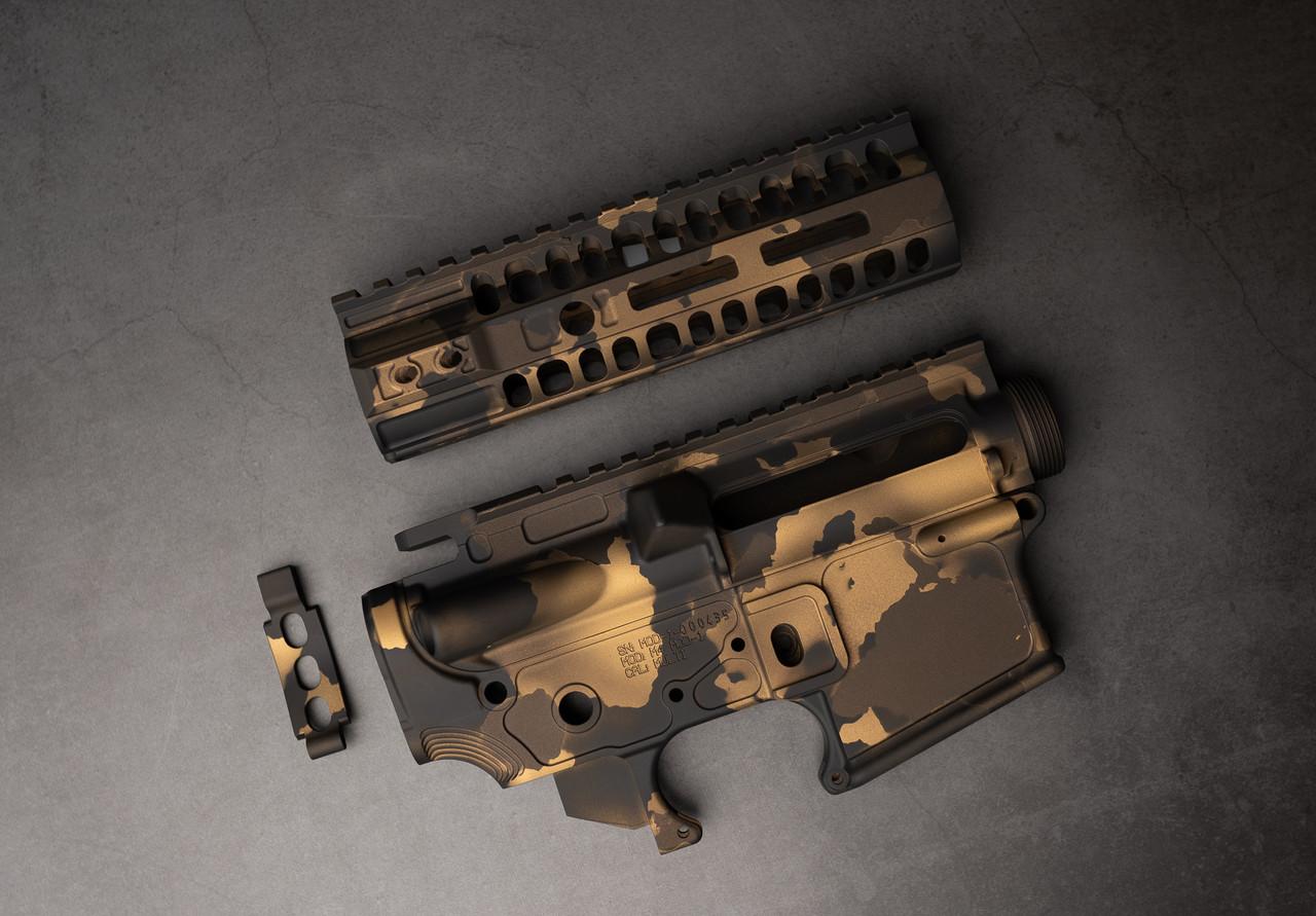 "B.Kings Firearms In Gold Granite 7"" MLOK Rail"