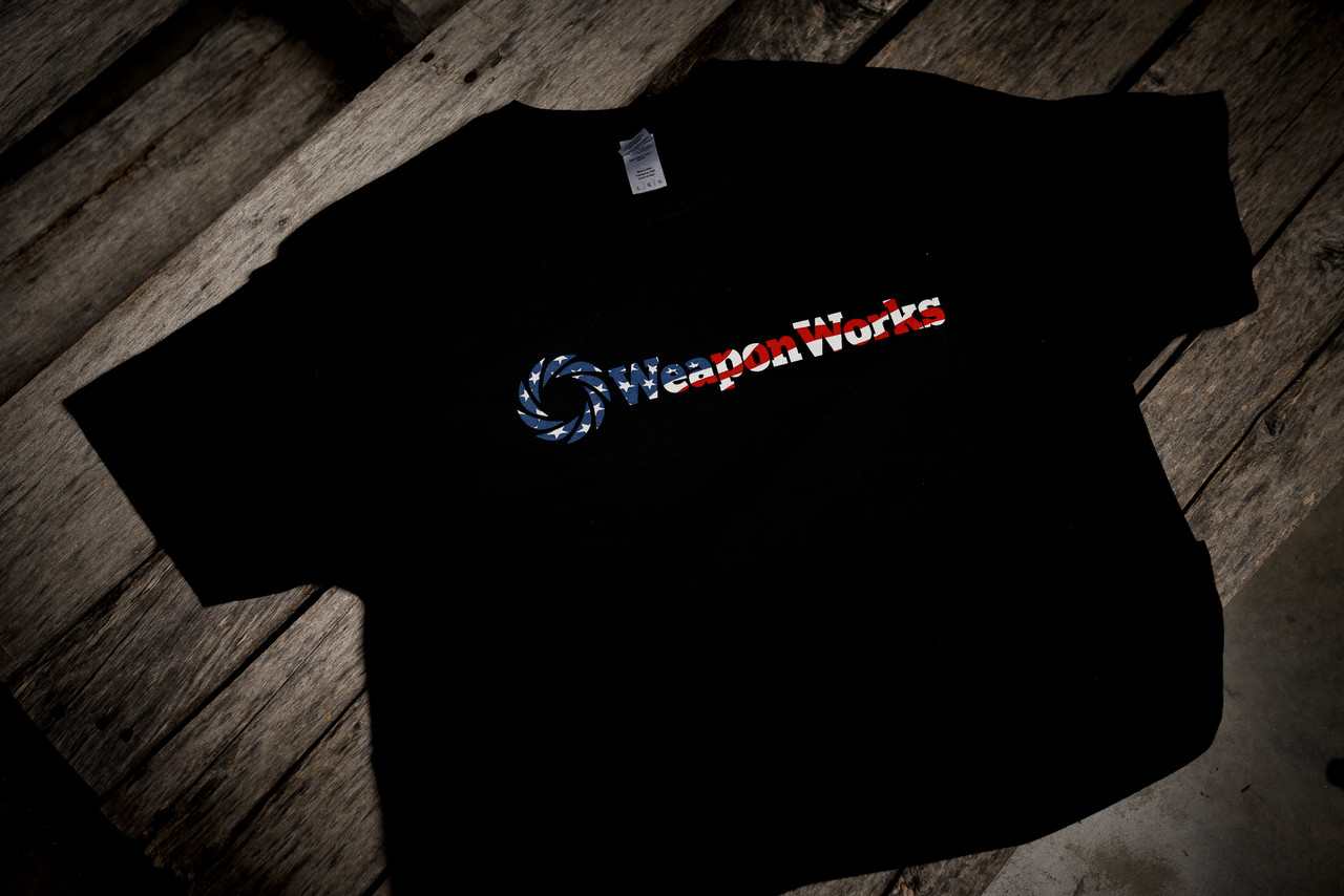 WWLLC Stars and Bars Logo T Shirt in Black