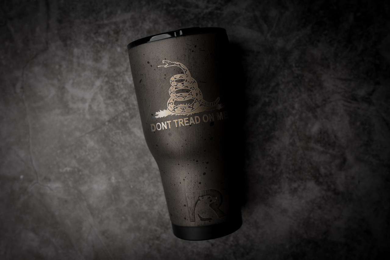 30oz  Dont tread Grey  Rtic Tumbler