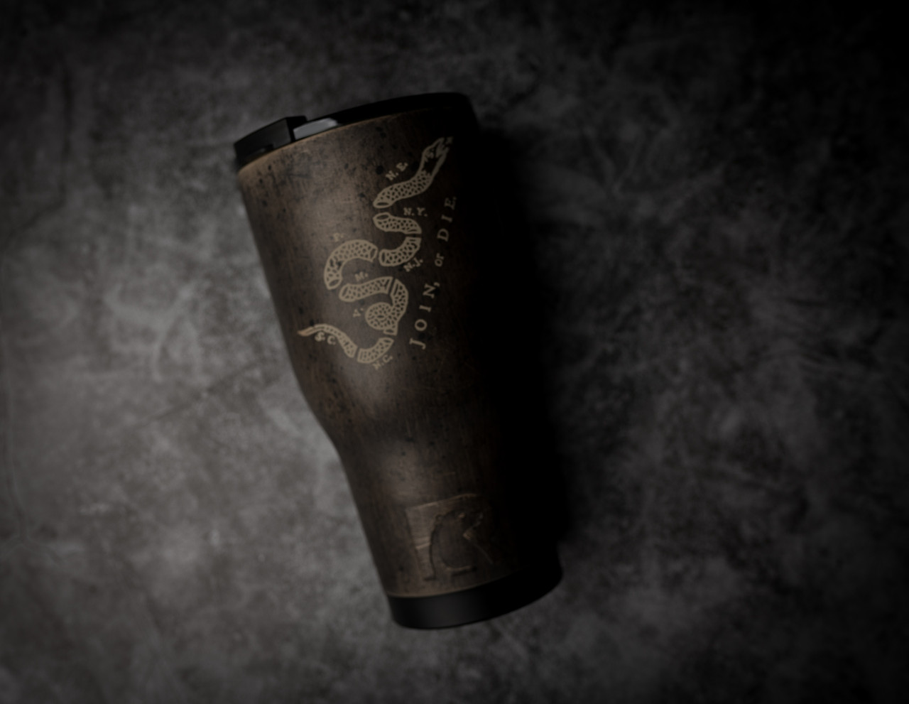 30oz  Join Or Die Battleworn Rtic Tumbler