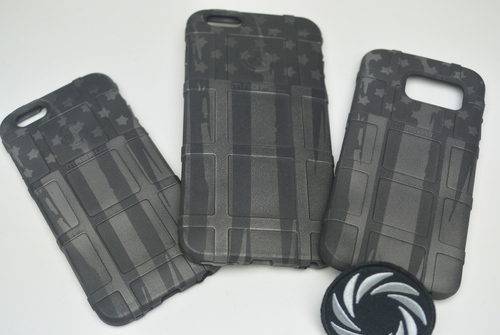 Distressed Flag Pistol Stencil Pack