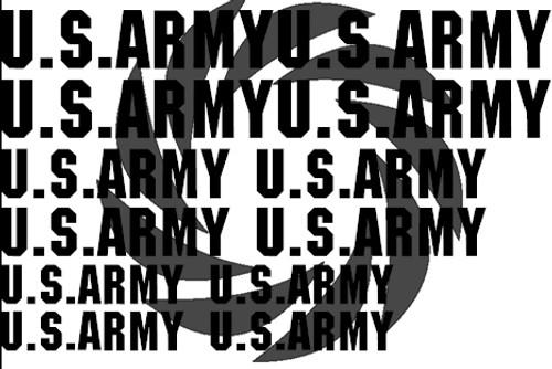 US Army Words Stencils