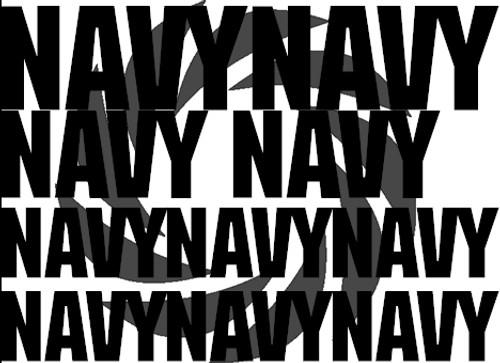 US Navy Words Stencils