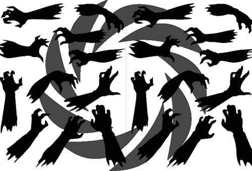 Zombie Hands Stencils