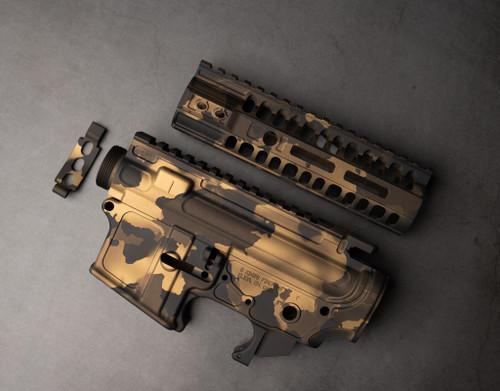 "B.Kings Firearms In Gold Granite 11"" MLOK Rail"