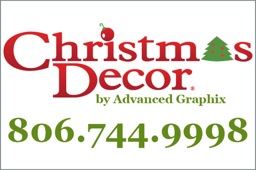Traditional Christmas Decor Yard Sign
