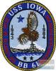 ECR07531 Patch - USS Iowa BB-61