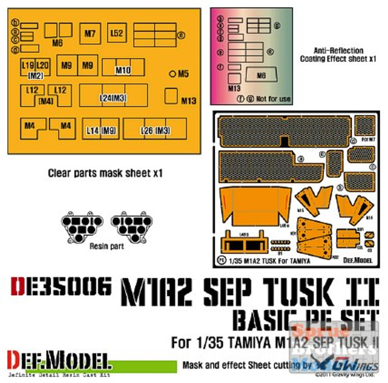 DEFDE35006 1:35 DEF Model M1A2 SEP Tusk II PE Set (TAM kit)