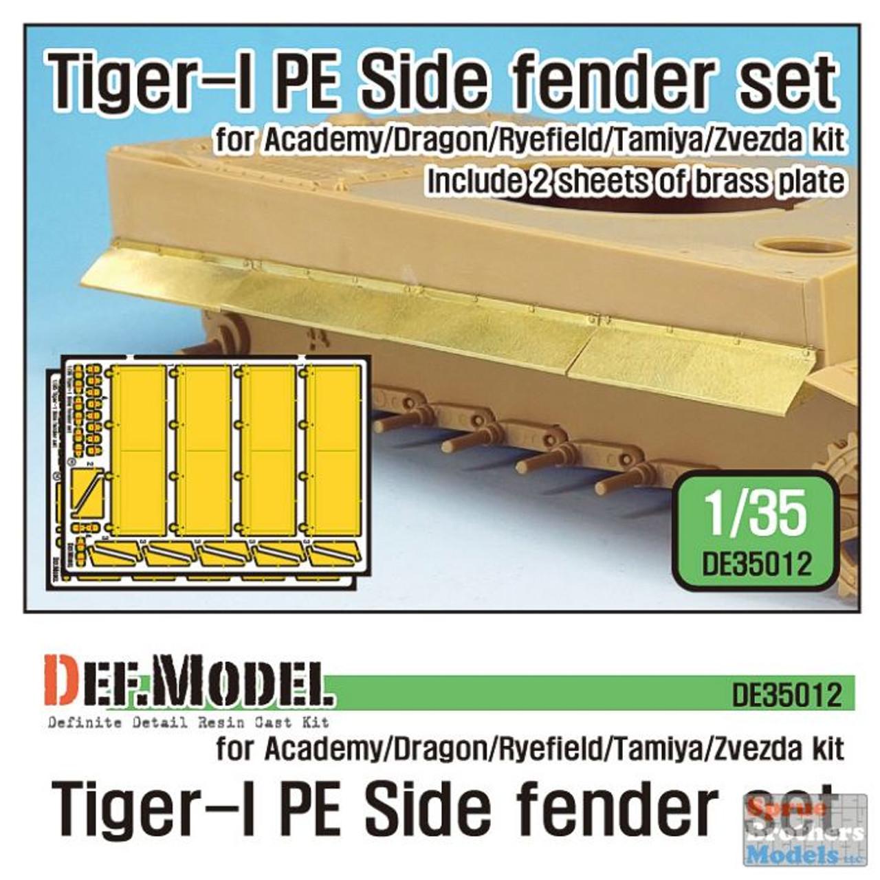 DEFDE35012 1:35 DEF Model Tiger I Side Fender Set (TAM/ACA/DRA/RFM/ZVE kit)