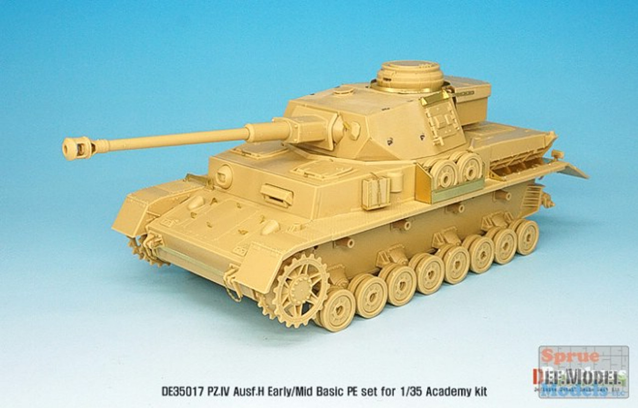 DEFDE35017 1:35 DEF Model Panzer.IV Ausf.H Early/Mid Basic PE Detail Set (ACA/TAM kit)