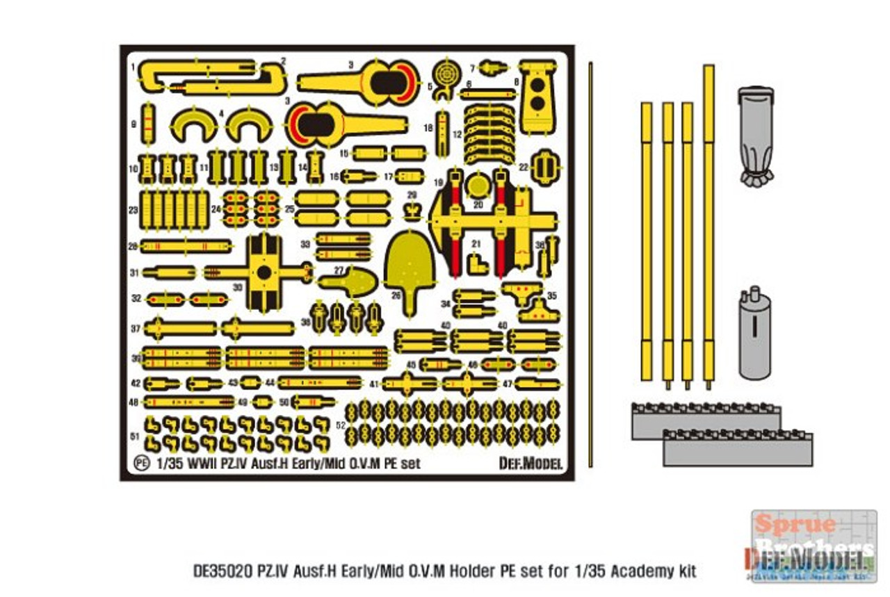 DEFDE35020 1:35 DEF Model Panzer.IV Ausf.H O.V.M. Holder PE Set