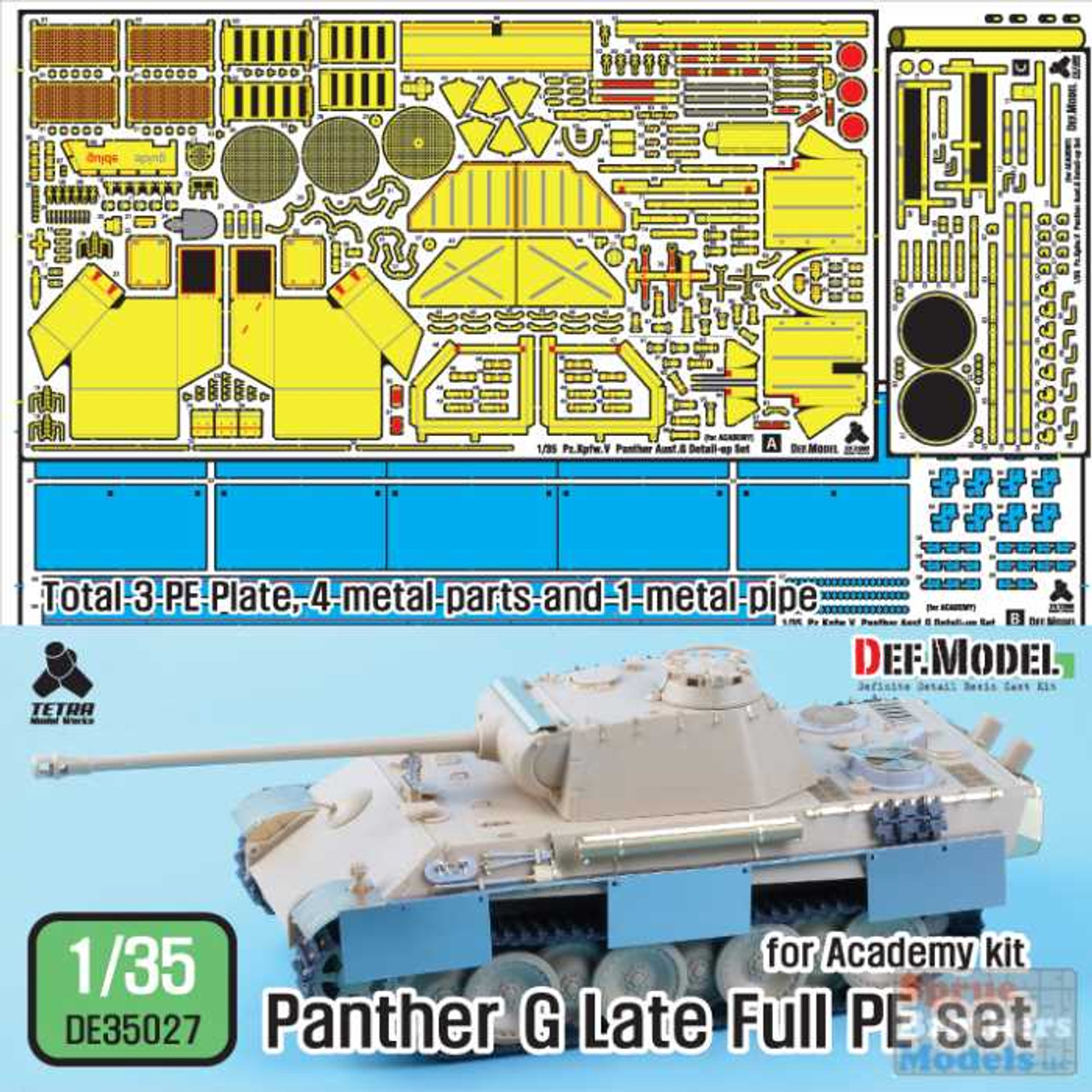 DEFDE35027 1:35 DEF Model Panther G Late Full PE Detail Set (ACA kit)