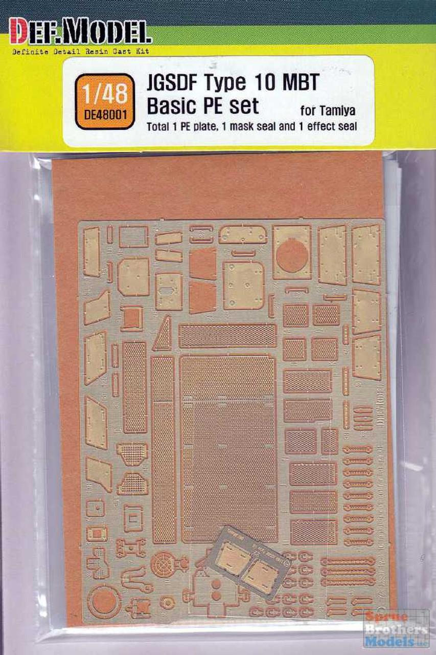 DEFDE48001 1:48 DEF Model JGSDF Type 10 MBT Basic PE Set (TAM kit)