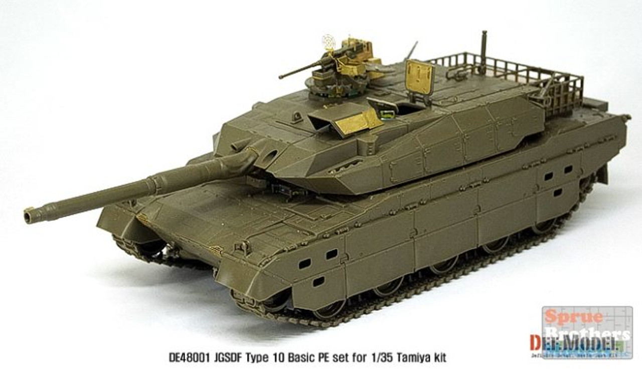 DEFDE48001 1:48 DEF Model JGSDF Type 10 MBT Basic PE Set (TAM kit)