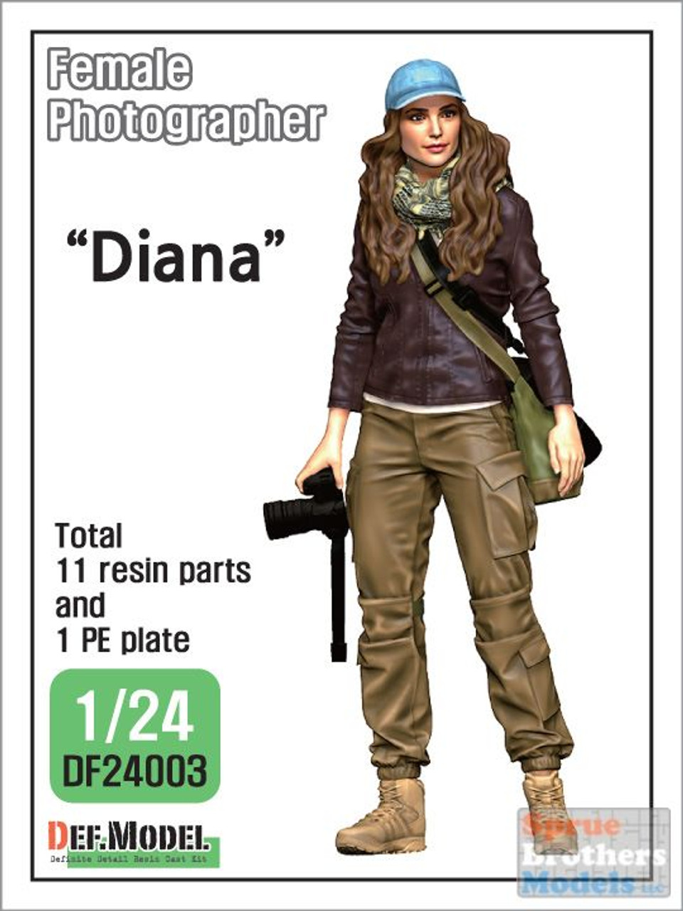 "DEFDF24003 1:24 DEF Model Figure Set - Modern Female Photographer ""Diana"""
