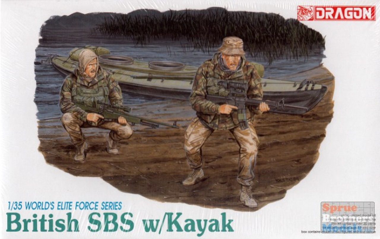 DML3023 1:35 Dragon British SBS with Kayak #3023
