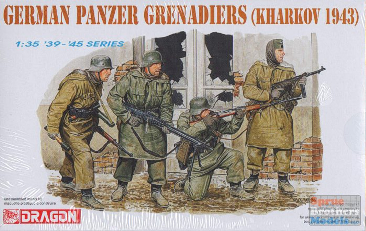 DML6059 1:35 Dragon SS Grenadiers Kharkov 1943 Figure Set