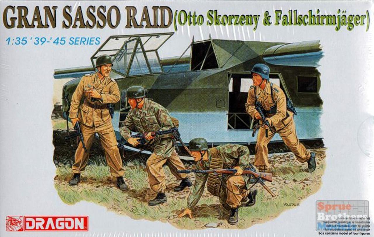 DML6094 1:35 Dragon Gran Sasso Raid (Otto Skorzeny & Fallshirmjager) Figures Set