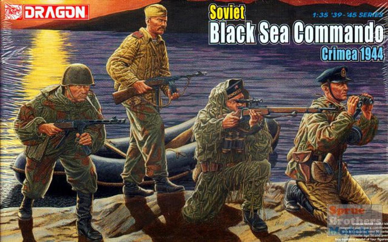 DML6457 1:35 Dragon Soviet Black Sea Commando, Crimea 1944 (4 Figures Set)