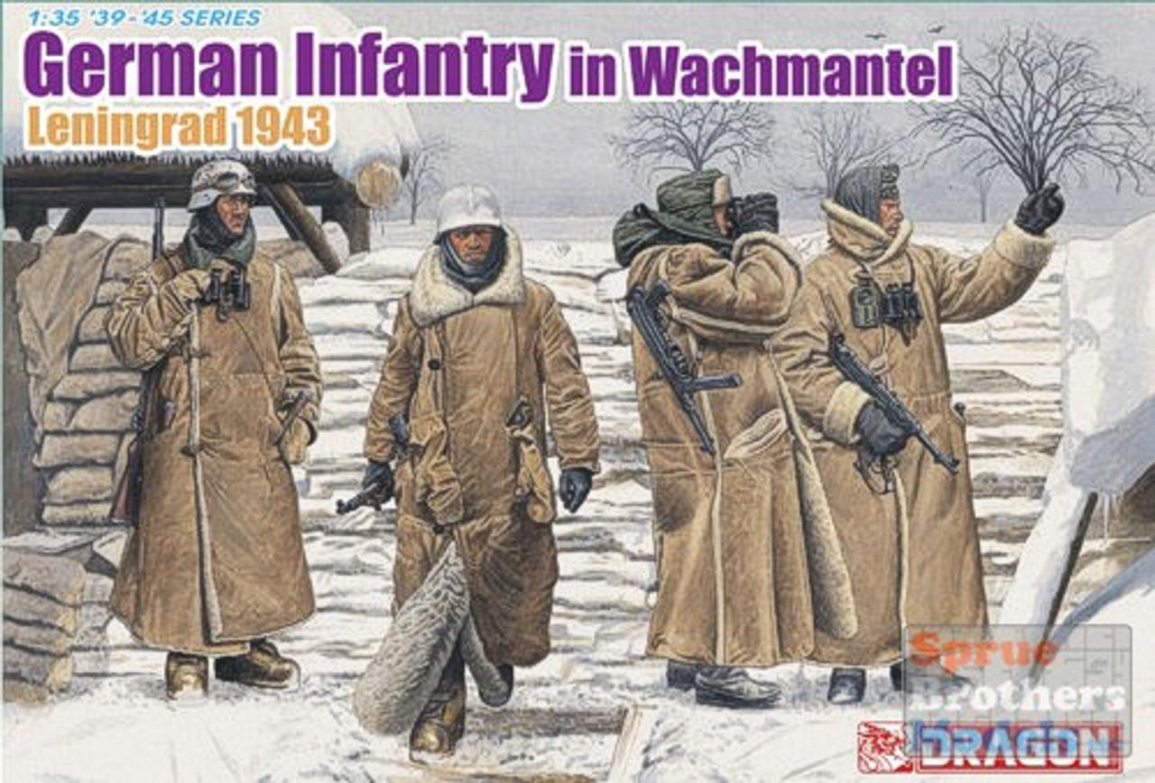 DML6518 1:35 Dragon German Infantry in Wachtmantel Leningrad 1943 (4 Figures Set)