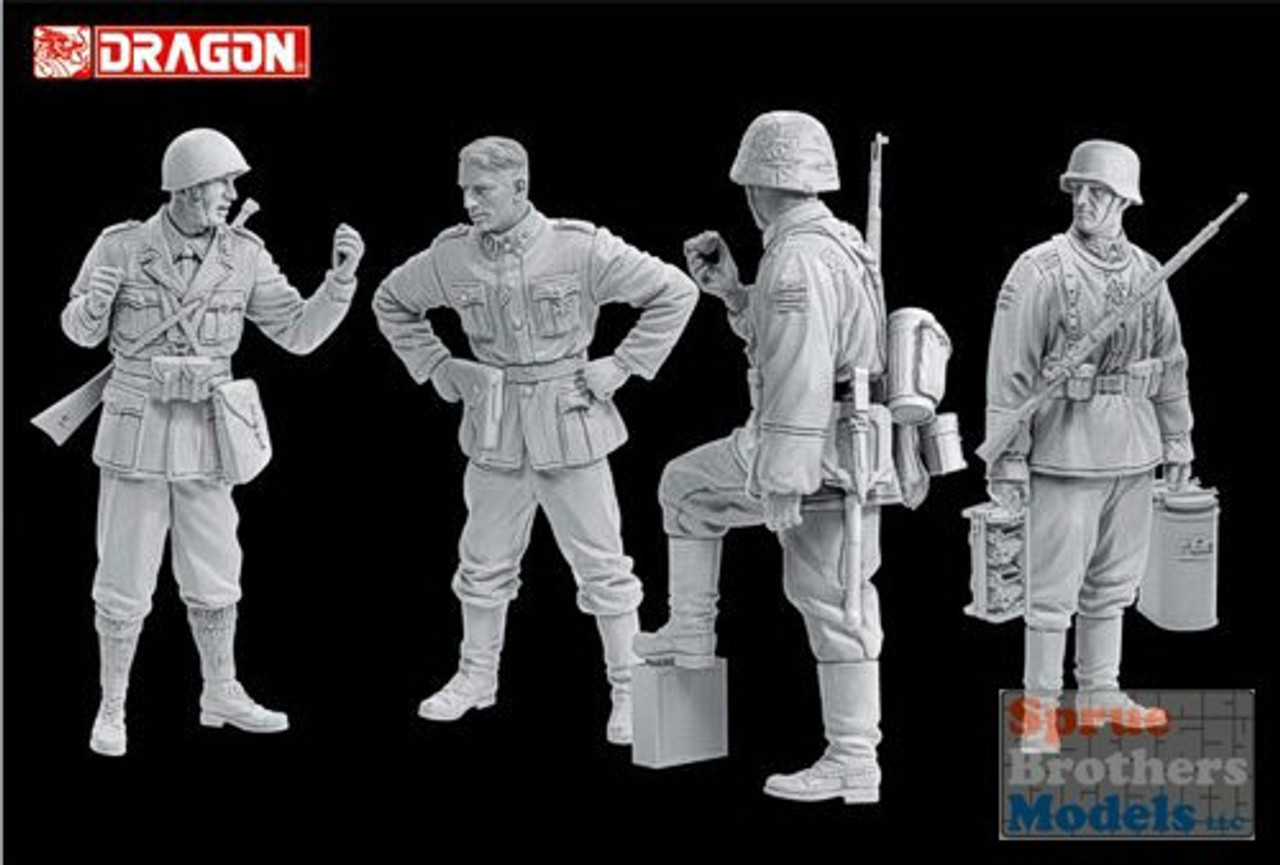 "DML6563 1:35 Dragon ""Fragile Alliance"" Axis Forces Balkan 1943 (4 Figures Set)"