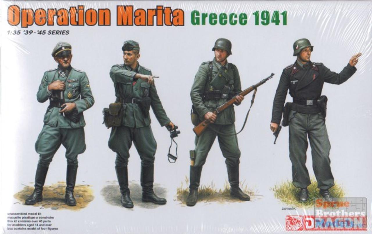"DML6783 1:35 Dragon ""Operation Marita, Greece 1941"" (4 Figures Set)"