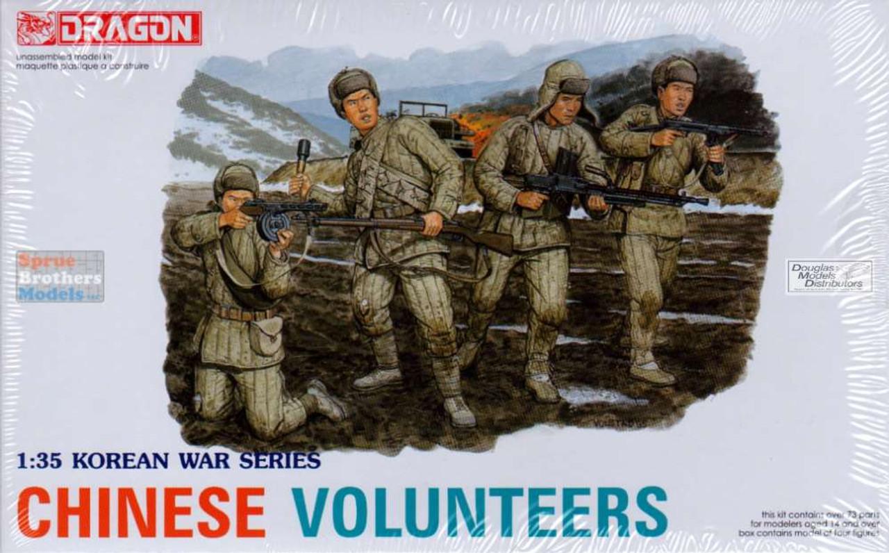 DML6806 1:35 Dragon Korean War Chinese Volunteers (4 Figures Set)
