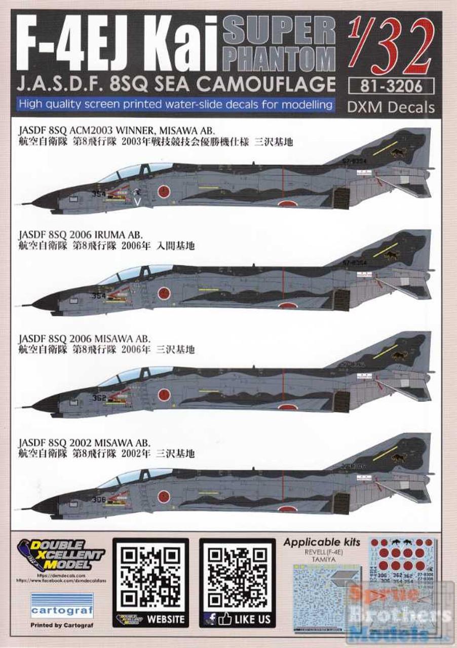 DXM81-3206 1:32 DXM Decals F-4EJ Kai Super Phantom II 8SQ Sea Camouflage