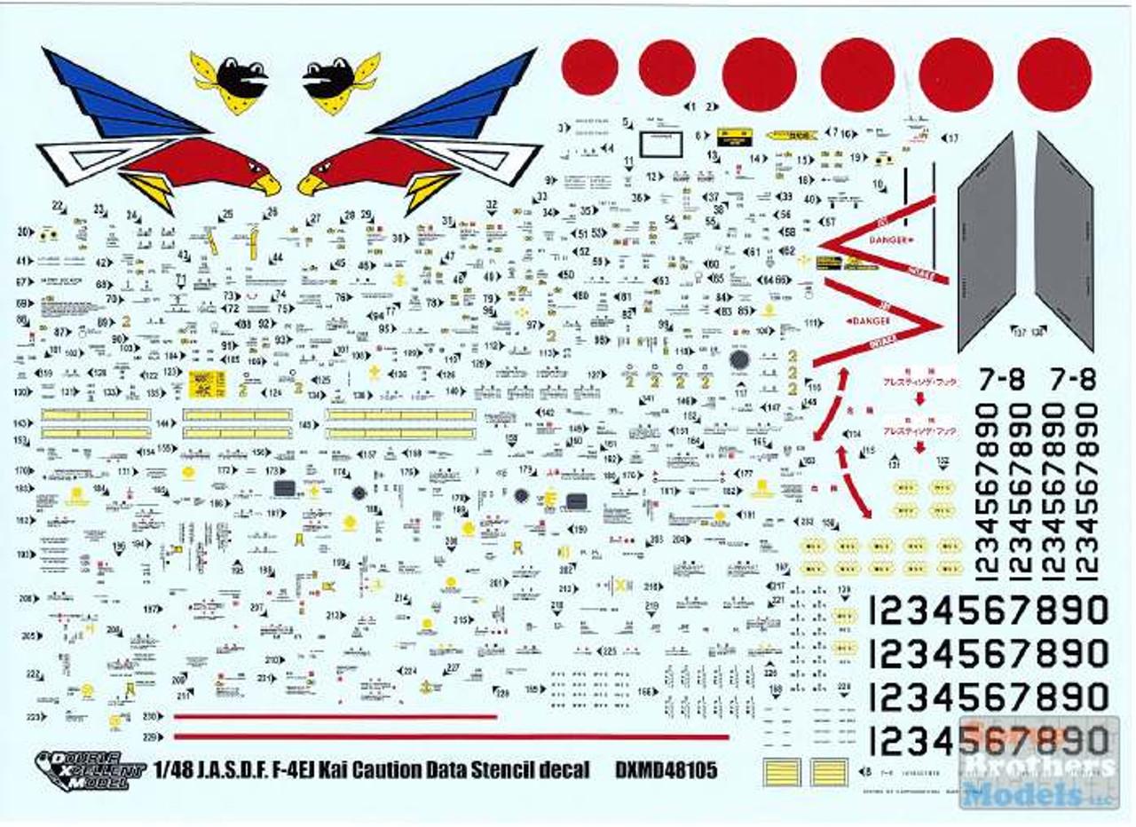 DXM81-4133 1:48 DXM Decals JASDF F-4EJ Kai Super Phantom Caution Data Stencils