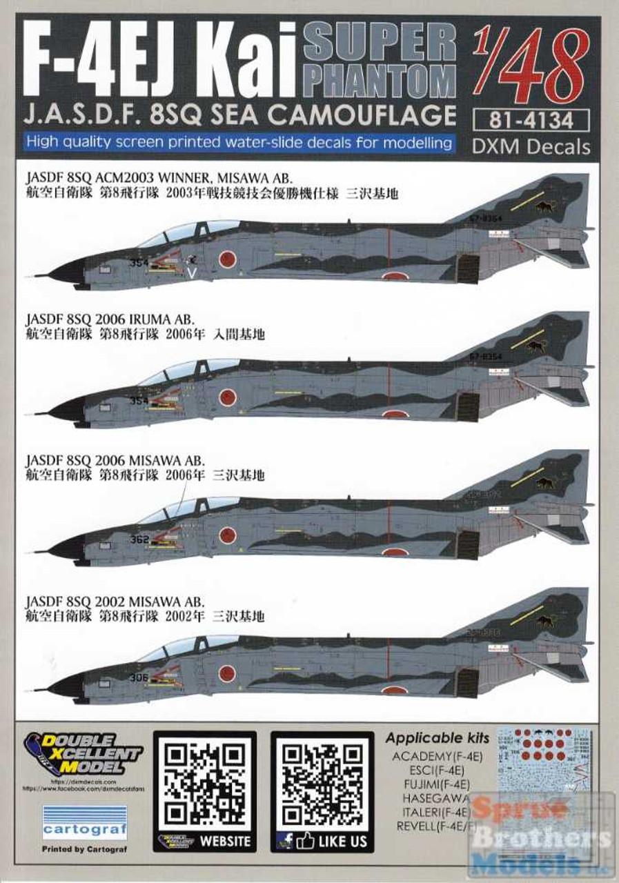 DXM81-4134 1:48 DXM Decals F-4EJ Kai Super Phantom II 8SQ Sea Camouflage