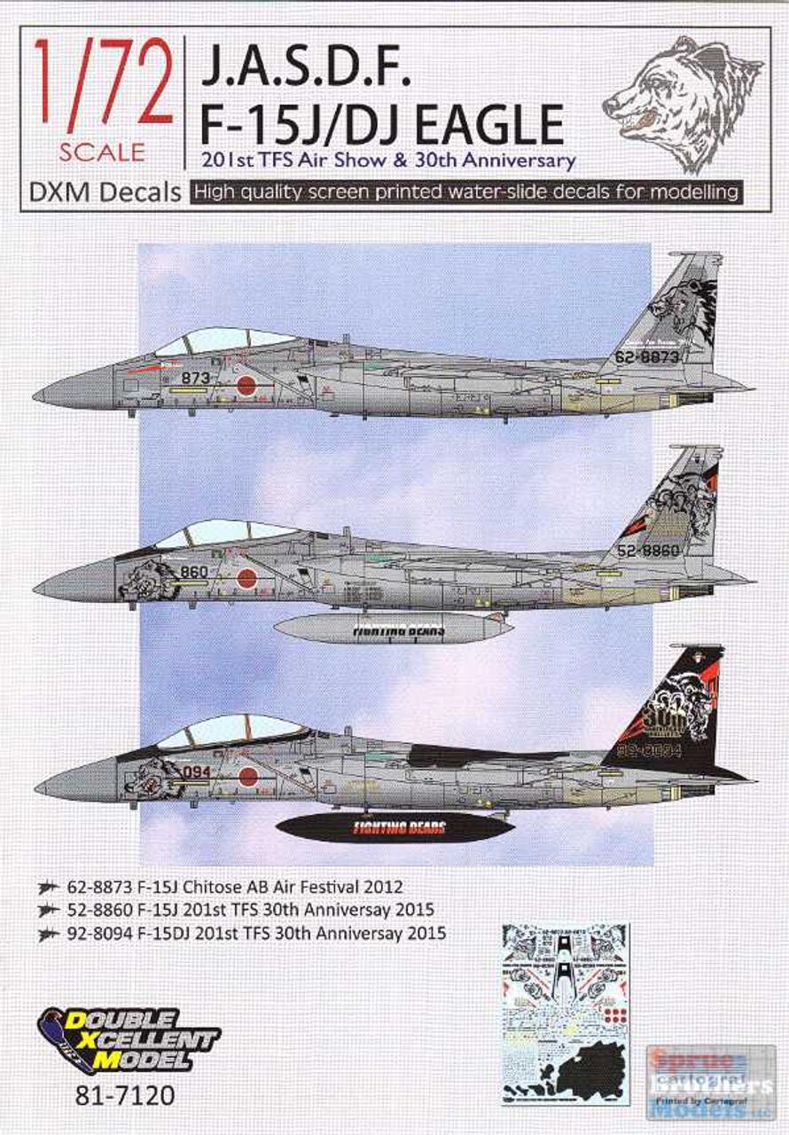 DXM81-7120 1:72 DXM Decals JASDF F-15J F-15DJ Eagle 201st TFS Air Show & 30th Anniversary