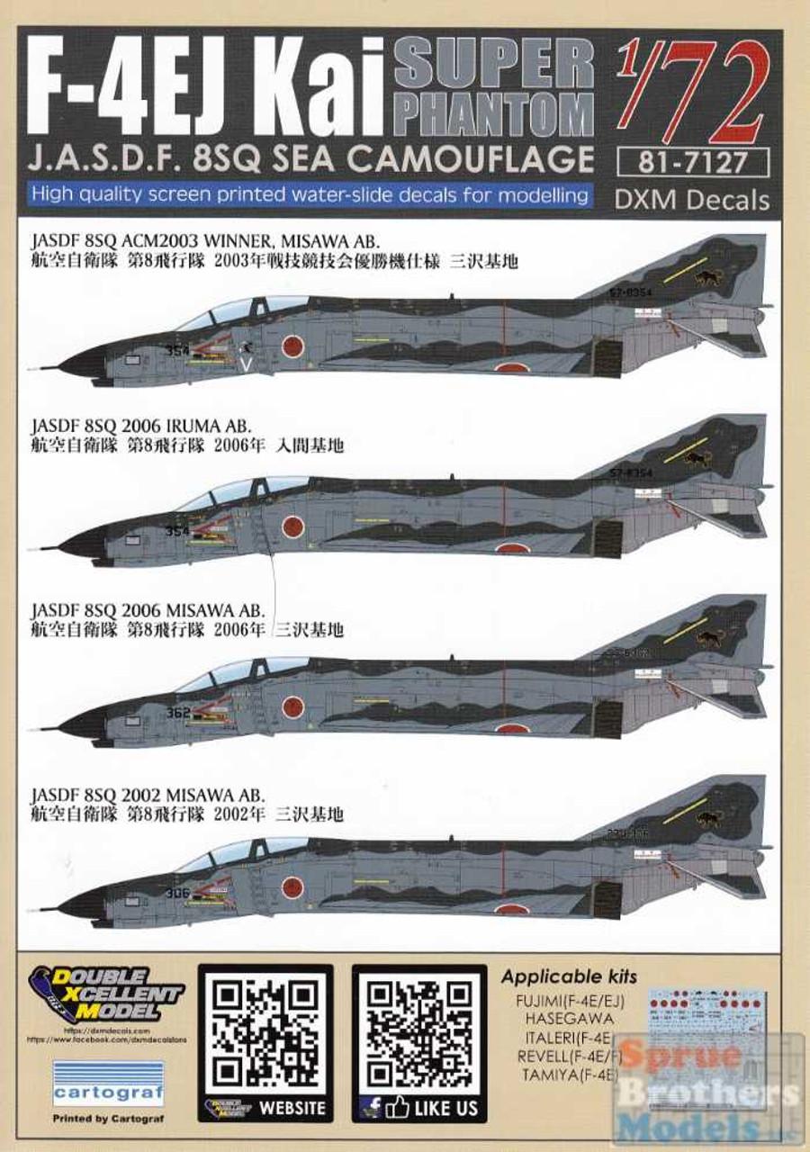 DXM81-7127 1:72 DXM Decals F-4EJ Kai Super Phantom II 8SQ Sea Camouflage