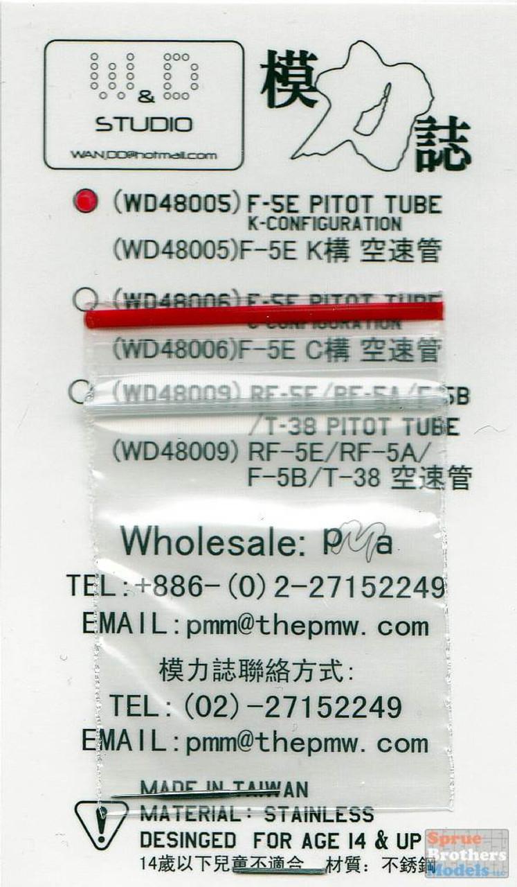 DXMWDS48005 1:48 DXM / W&D Studio - F-5E Tiger II K-Configuration Pitot Tube (Stainless Steel)