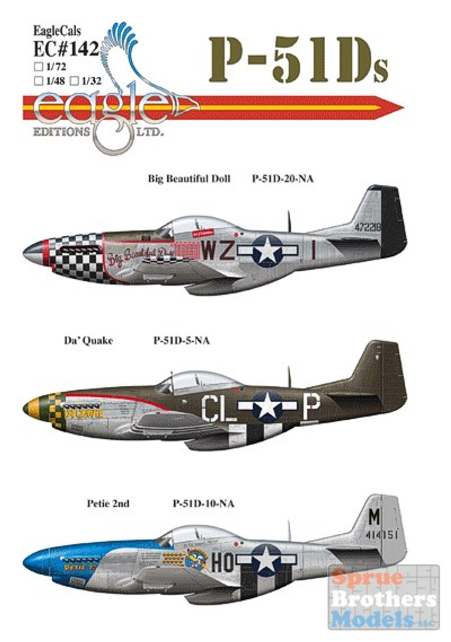 ECL48142 1:48 Eagle Editions P-51D Mustangs Pt 4 #48142