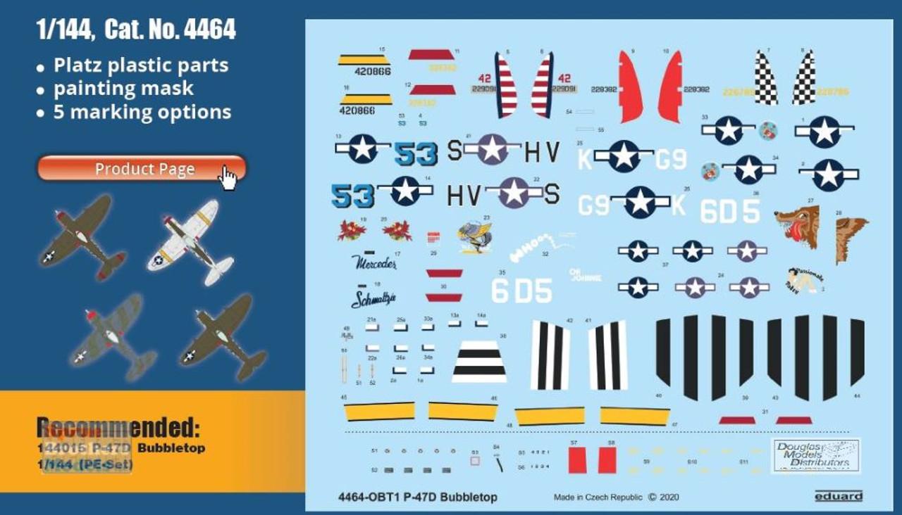 EDU04464 1:144 Eduard P-47D Thunderbolt Bubbletop