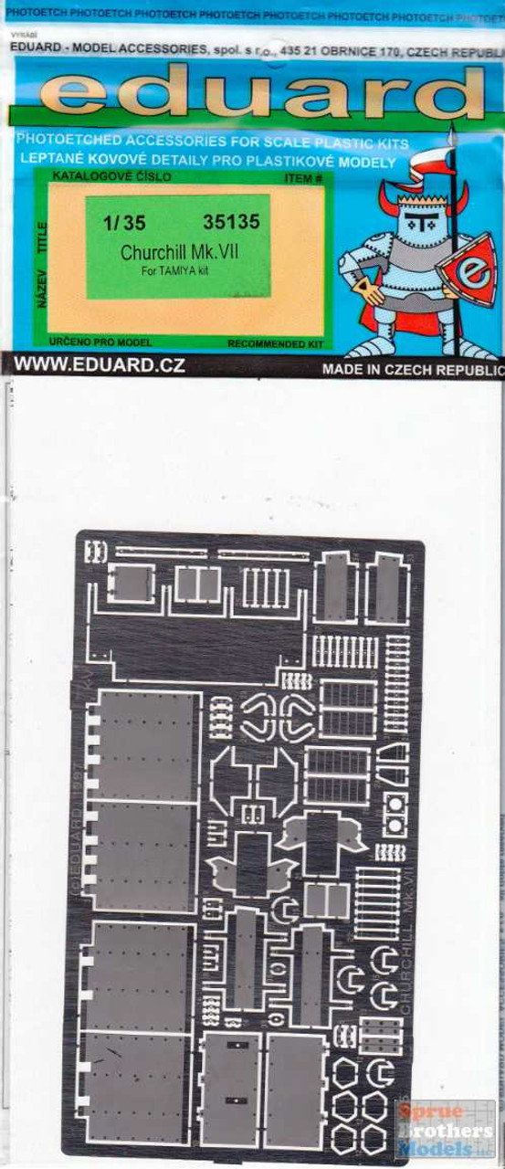 EDU35135 1:35 Eduard PE - Churchill Mk VII Detail Set (TAM kit)