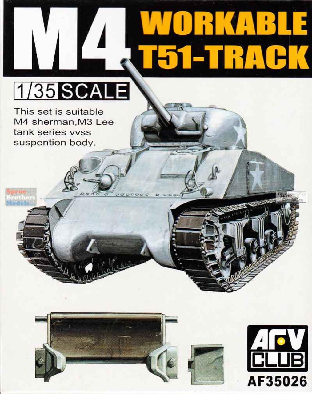 AFV35026 1:35 AFV Club M4 Sherman T51 Track (workable)